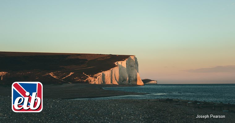 white cliffs at Eastbourne